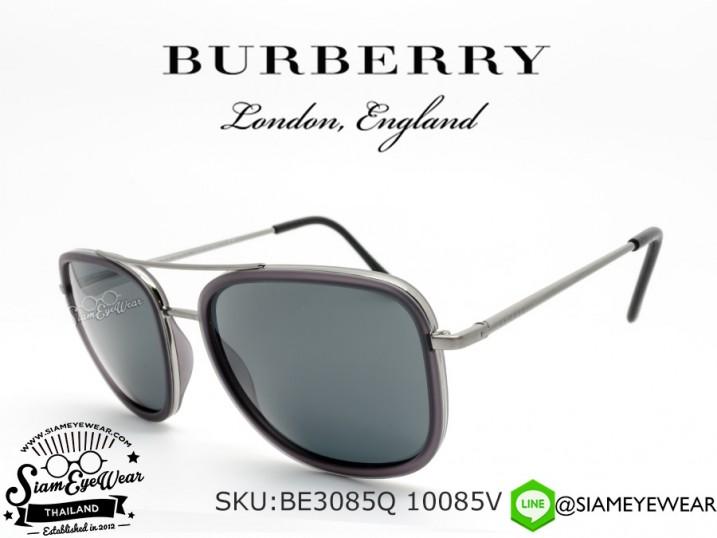แว่นตากันแดด Burberry BE3085Q 10085V Brushed Gunmetal/Grey