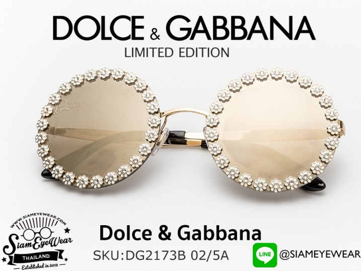 แว่นตากันแดด Dolce & Gabbana DG2173B 02/5A Gold/Light Brown Mirror Gold Limited edition