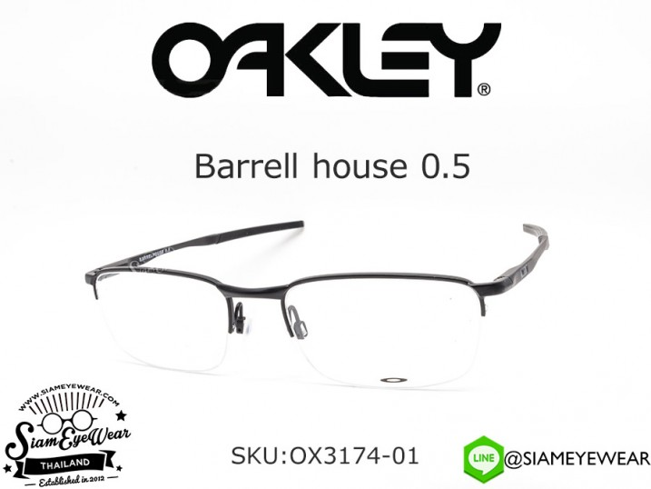 กรอบแว่น Oakley Barrellhouse 0.5 OX3174-01 Matte Black