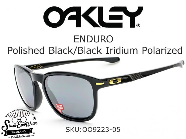 แว่น Oakley Enduro OO9223-05 Polished Black/ Black iridium polarized