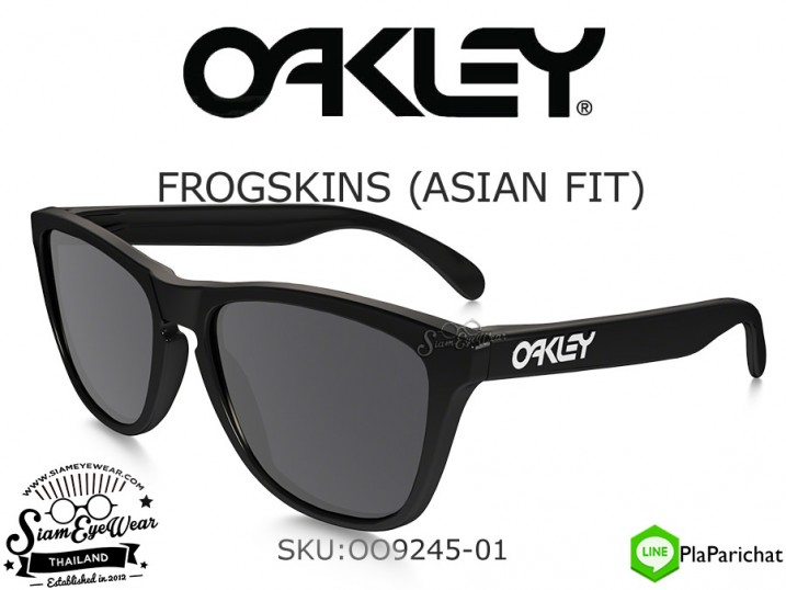 แว่น Oakley FROGSKINS (ASIAN FIT) OO9245-01 Polished Black/Grey