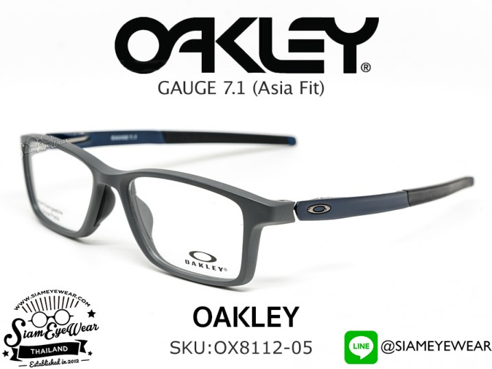 ตัดแว่น Oakley Optic Gauge 7.1 MNP OX8112-05 Satin Pavement (Blue Icon)