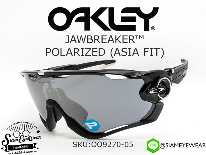 แว่นตา Oakley Jawbreaker Polarized (Asia Fit) OO9270-05 Polished Black/Black Iridium polarized