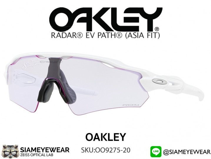 แว่นจักรยาน Oakley RADAR EV PATH (ASIA FIT) OO9275-20 Polished White/Prizm Low Light