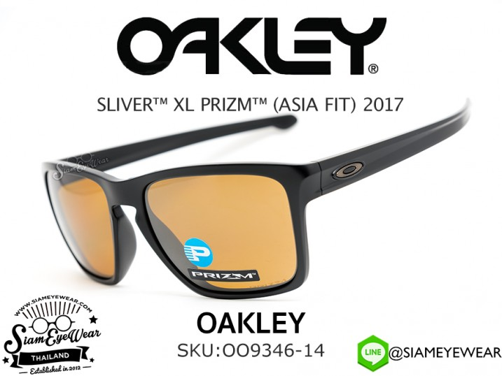 แว่นกันแดด Oakley SLIVER XL PRIZM (ASIA FIT) OO9346-14 Matte Black/Prizm Tungsten Polarized