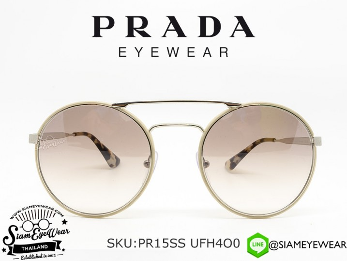แว่นกันแดด Prada PR15SS UFH4O0 Light Brown/Gradient Brown Mirror Silver