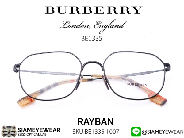 แว่น Burberry BE1335 1007 Matte Black