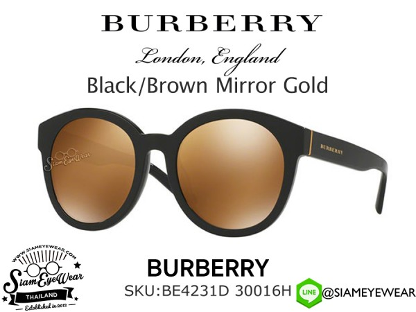 แว่นตากันแดด Burberry BE4231D 30016H Black/Brown Mirror Gold