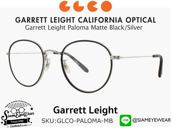 แว่น Garrett Leight Paloma Matte Black/Silver 48 mm