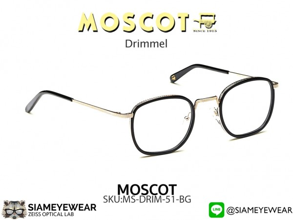 แว่น MOSCOT Drimmel 51 Black Gold