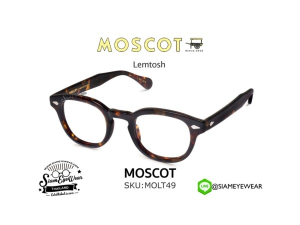 กรอบแว่น MOSCOT Lemtosh Tortoise 49 mm