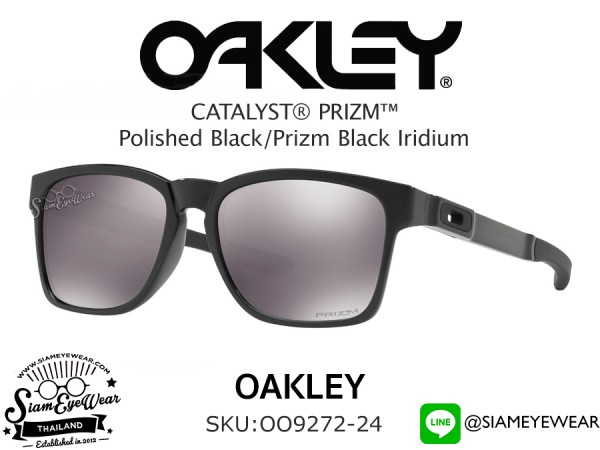 แว่นกันแดด Oakley Catalyst OO9272-24 Polished Black/Prizm Black Iridium