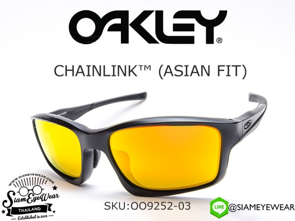แว่นตา Oakley Chainlink (Asia Fit) OO9252-03 Matte Black/Fire Iridum