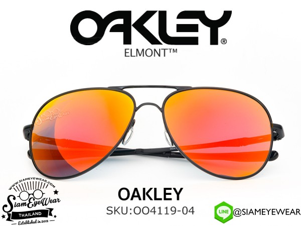 แว่นตากันแดด Oakley Elmont OO4119-04 Satin Black/Ruby Iridium