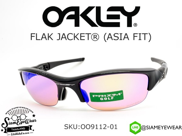 แว่นตา Oakley Flak Jacket (Asia Fit) OO9112-01 Polished Black/Prizm Golf