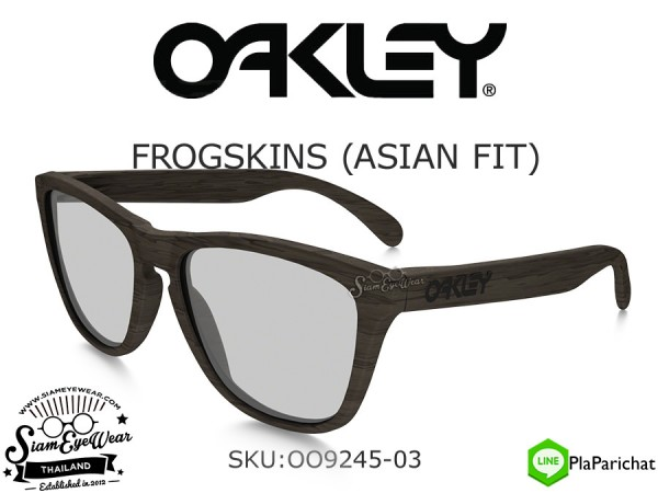 แว่น Oakley FROGSKINS (ASIAN FIT) OO9245-03 Woodgrain/Titanium Clear Iridium