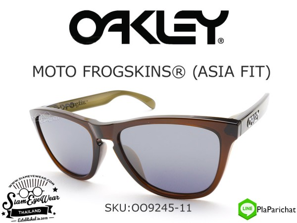 แว่น Oakley Moto Frogskins Asian Fit OO9245-11 Brown/Black Iridium