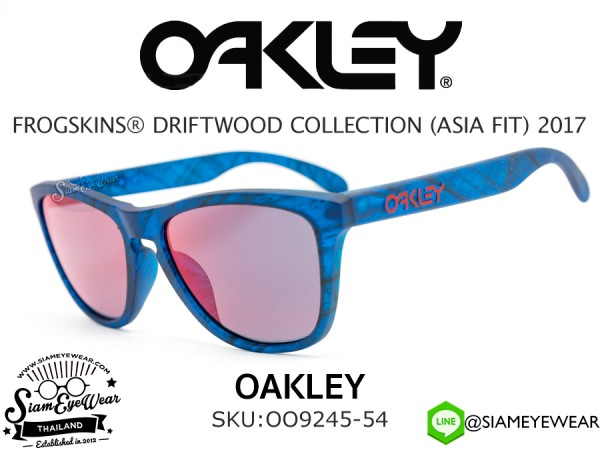 แว่น Oakley FROGSKINS (ASIAN FIT) OO9245-54 Matte Blue Woodgrain/Torch Iridium
