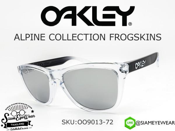 แว่นตา Oakley Frogskins Snow Alpine OO9013-72 Clear/Chrome Iridium