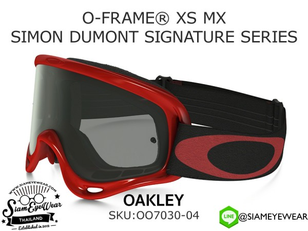แว่นจักรยาน Oakley Goggle O-FRAME XS MX SIMON DUMONT SIGNATURE SERIES OO7030-04 High Voltage Red/Dark Gray
