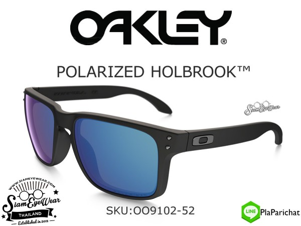 แว่นตากันแดด Oakley HOLBROOK Matte Black/Ice Iridium Polarized OO9102-52