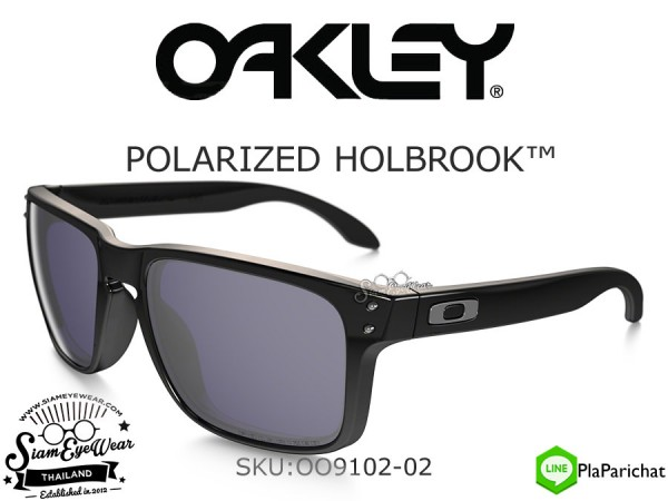 แว่น Oakley HOLBROOK Polished Black/Grey Polarized OO9102-02