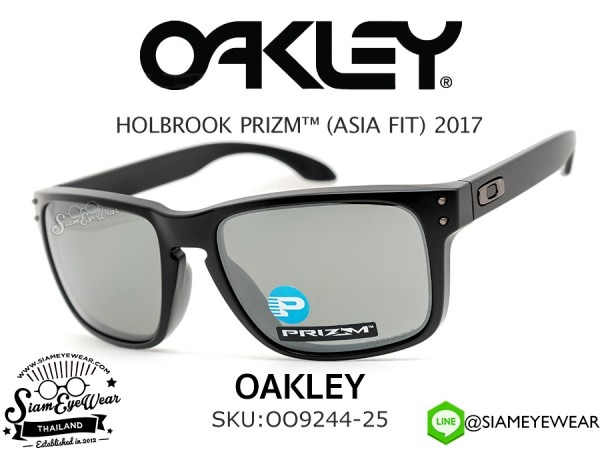แว่นตากันแดด Oakley HOLBROOK PRIZM (ASIAN FIT) OO9244-25 Matte Black/Prizm Black Iridium