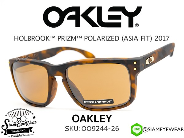 แว่นตา Oakley HOLBROOK PRIZM (ASIAN FIT) OO9244-26 Matte Brown Tortoise/Prizm Tungsten polarized