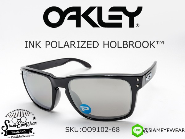 แว่นกันแดด Oakley Ink Holbrook OO9102-68 Black Ink/Chrome Iridium polarized