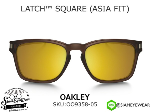 แว่นตากันแดด Oakley LATCH SQ (ASIA FIT) OO9358-05 Matte Rootbeer/24K Iridium