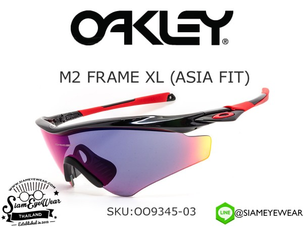 แว่นตา Oakley M2 Frame XL (Asia Fit) OO9345-03 Polished Black/Positive Red Iridium