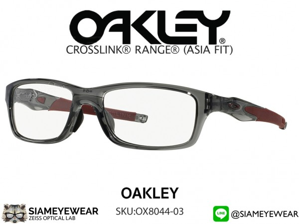 แว่น Oakley Optic Crosslink Range (Asia fit) OX8044-03 Grey Smoke/Cardinal