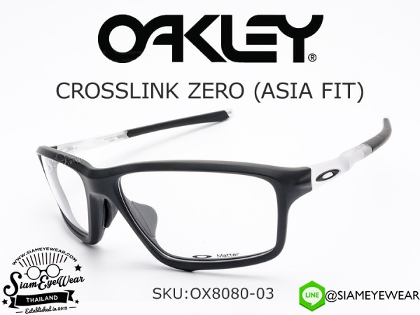 แว่นตา Oakley Optic CROSSLINK ZERO (ASIA FIT) OX8080-03 Matte Black