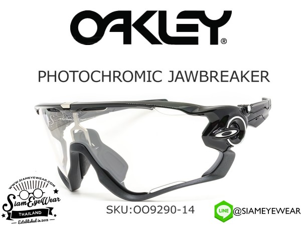แว่นกันแดด จักรยาน Oakley Jawbreaker OO9290-14 Polished Black/Clear Black Iridium Photochromic