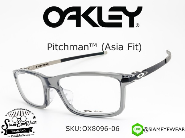 ตัดแว่นสายตาOakley Optic PITCHMAN (Asia fit) OX8096-06 Gray Smoke