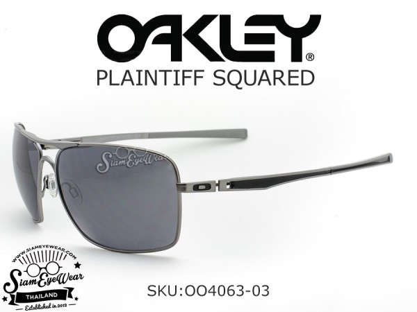 แว่น Oakley PLAINTIFF SQUARED Lead/Black Iridium OO4063-03