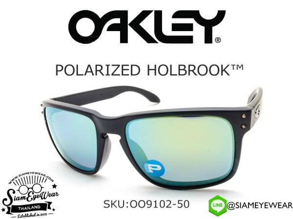 แว่นตา Oakley Holbrook Matte Black/Emerald Iridium Polarized OO9102-50