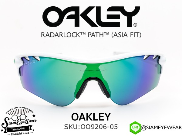 แว่น Oakley Radarlock Path OO9206-05 Polished White/Jade Iridium