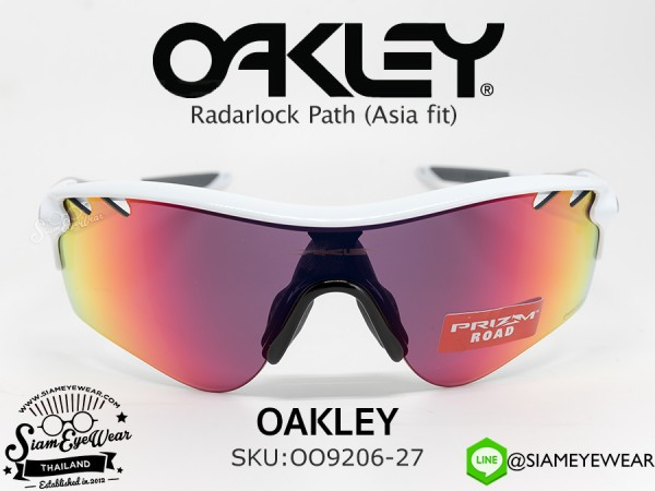 แว่นจักรยาน Oakley Radarlock Path (Asia fit) OO9206-27 Polished White/Prizm Road
