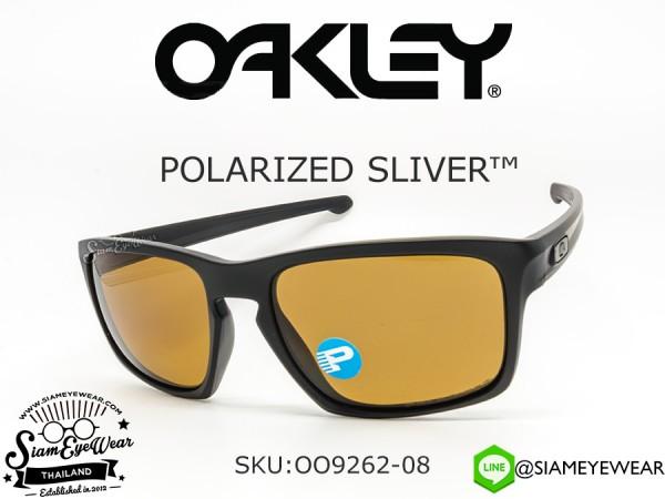แว่นกันแดด Oakley SLIVER OO9262-08 Matte Black/Bronze polarized