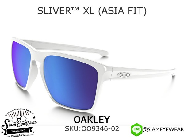 แว่นตา Oakley SLIVER XL (ASIA FIT) OO9346-02 Polished White/Sapphire Iridium