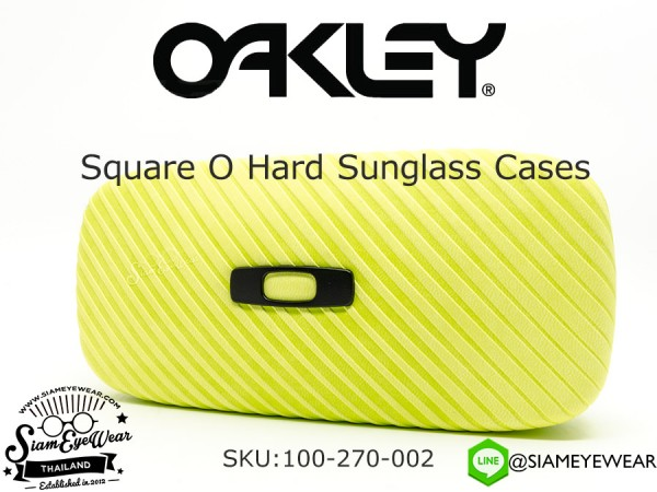 กล่องแว่น Oakley Square O Hard Sunglass Cases 100-270-002 Neon Yellow
