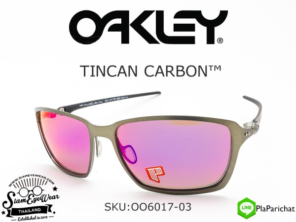 แว่นวิ่ง Oakley Tincan Carbon OO6017-03 Carbon/OO Red Iridium polarized