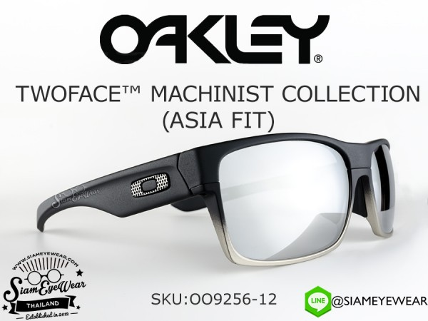 แว่นตา Oakley TWOFACE MACHINIST COLLECTION (Asia Fit) OO9256-12 Matte Black/Chrome Iridium
