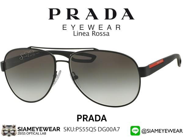 แว่น Prada Linea Rossa PS55QS DG00A7 Aviator Polarised Black