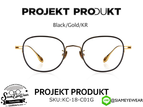 แว่นตา Projekt Produkt Optic KC-18 C01G Black/Gold