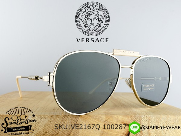 แว่น Versace VE2167Q 125271 Pale Gold/Grey Green