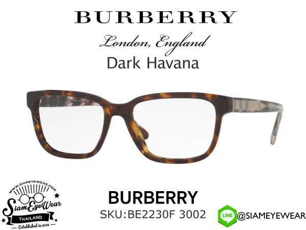 แว่นสายตา Burberry Optic BE2230F 3002 Dark Havana