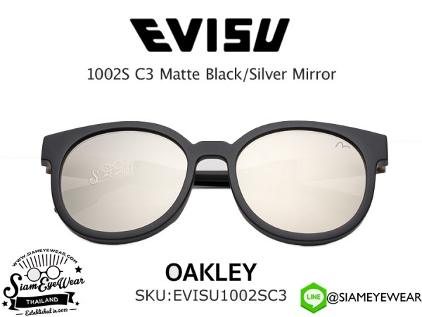 แว่นกันแดด EVISU 2010 C2 Matte Black/Light Gold Mirror