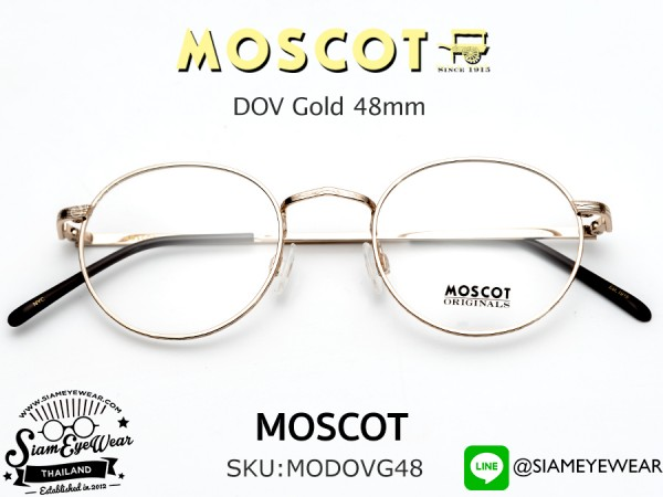แว่น MOSCOT DOV Gold 48mm